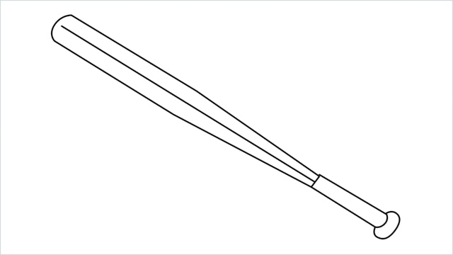 how to draw a baseball bat