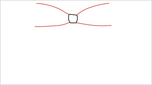 how to draw a bow Step (2)