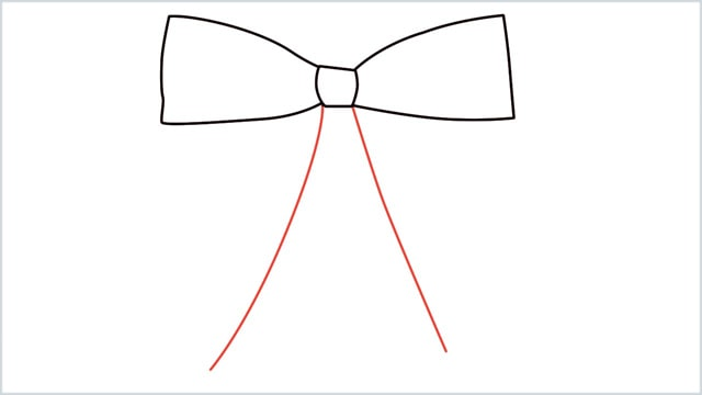 how to draw a bow Step (4)