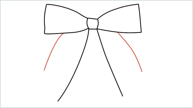 how to draw a bow Step (5)