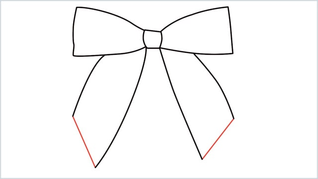 how to draw a bow Step (6)