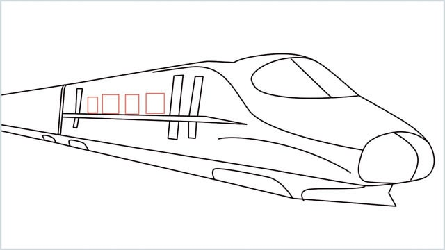 how to draw a bullet train step (10)