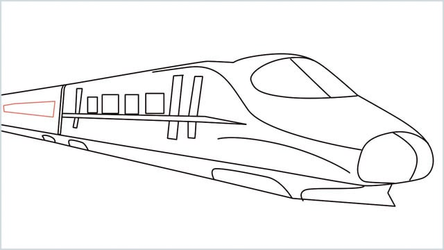 how to draw a bullet train step (11)