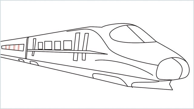 how to draw a bullet train step (12)