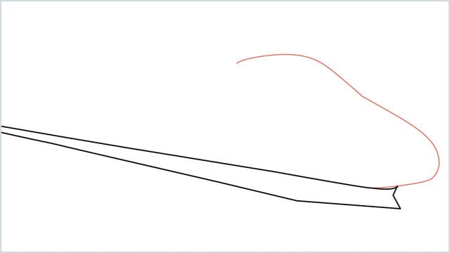how to draw a bullet train step (2)