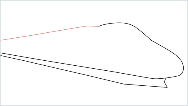 how to draw a bullet train step (3)