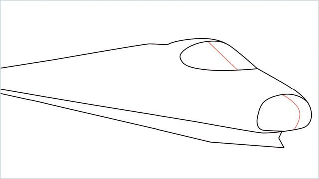 how to draw a bullet train step (5)