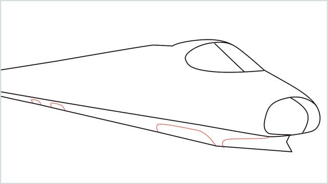 how to draw a bullet train step (6)