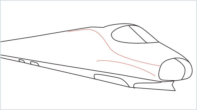 how to draw a bullet train step (7)
