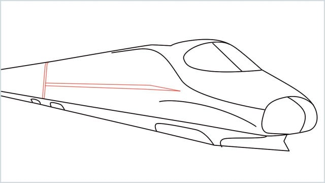 how to draw a bullet train step (8)