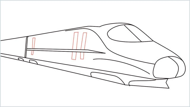 how to draw a bullet train step (9)