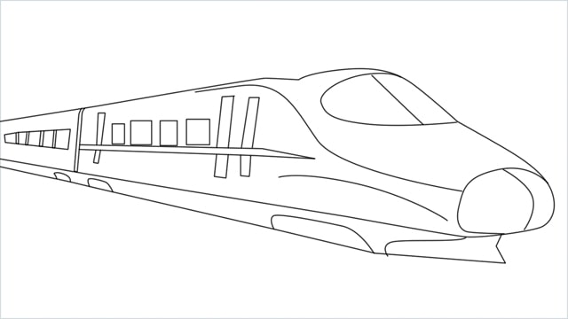 how to draw a bullet train