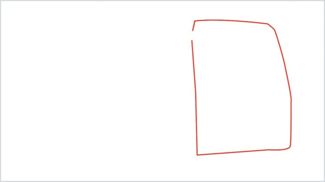 how to draw a bus Step (1)