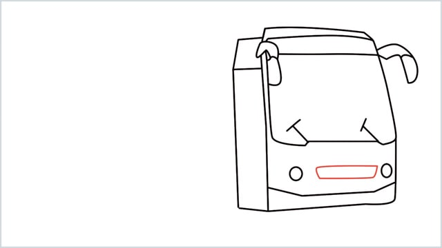 how to draw a bus Step (10)