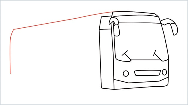 how to draw a bus Step (11)