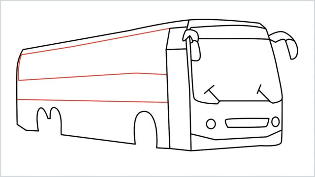 how to draw a bus Step (13)