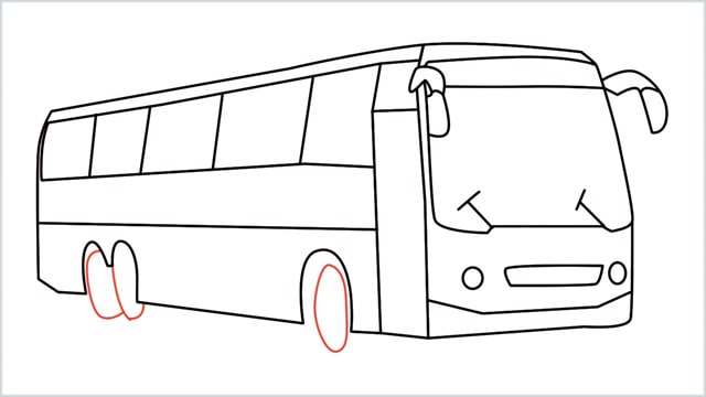 how to draw a bus Step (15)