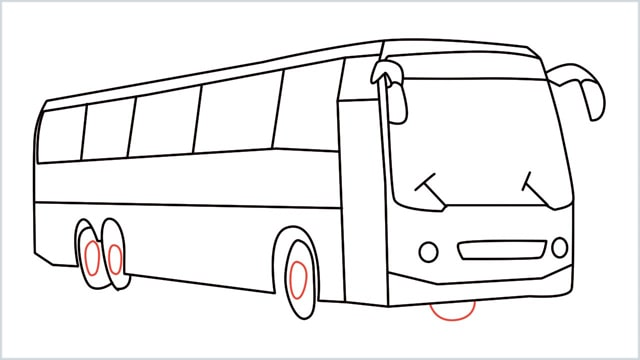 how to draw a bus Step (16)