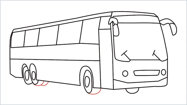 how to draw a bus Step (17)