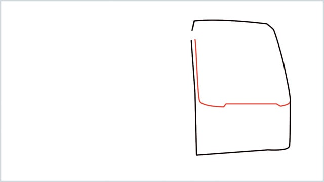 how to draw a bus Step (2)
