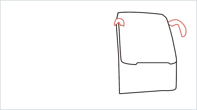how to draw a bus Step (3)