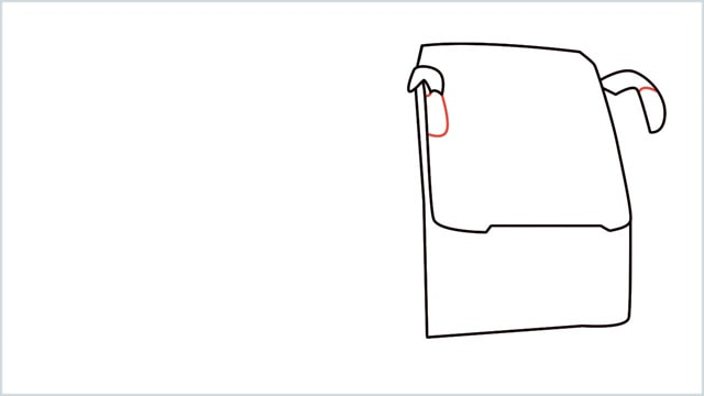 how to draw a bus Step (4)
