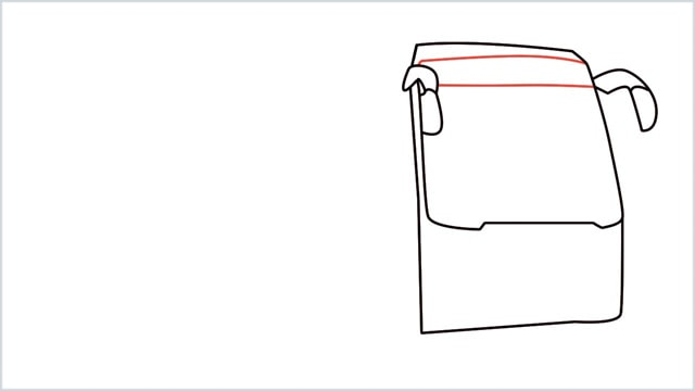 how to draw a bus Step (5)