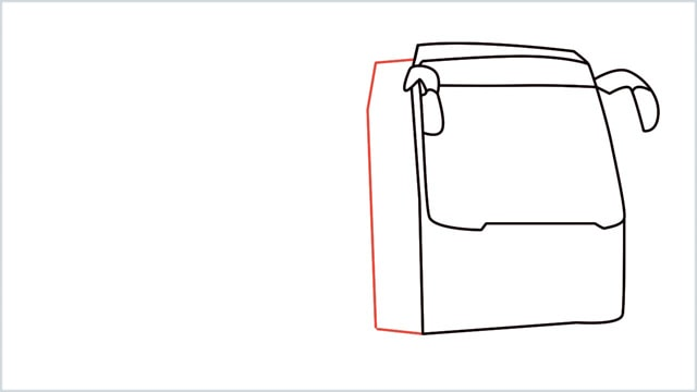 how to draw a bus Step (6)