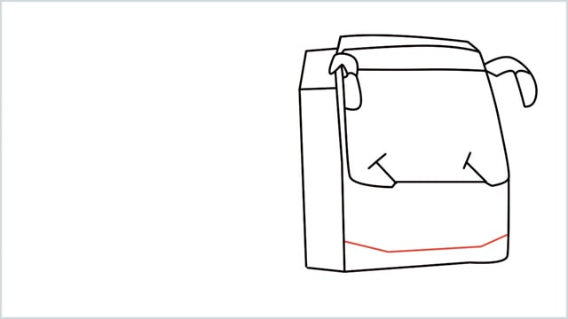 how to draw a bus Step (8)