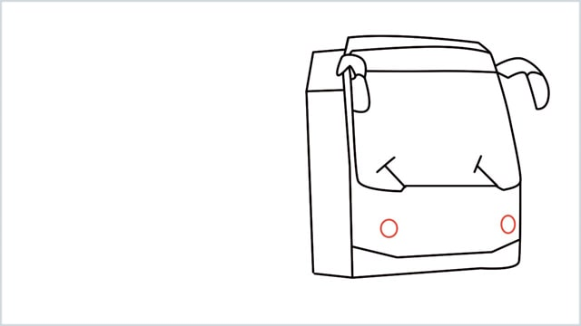 how to draw a bus Step (9)