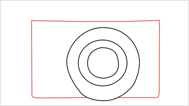 how to draw a camera step (2)