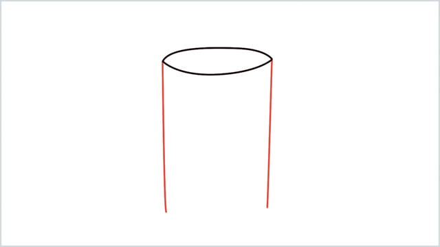 how to draw a candle step 2
