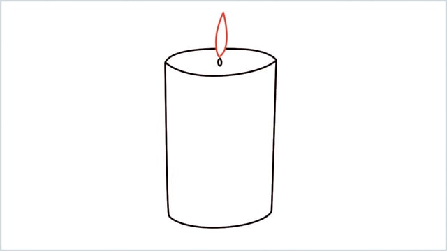 how to draw a candle step 5