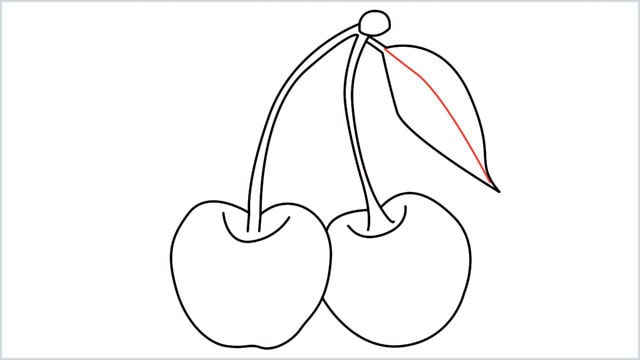 how to draw a cherry step (9)