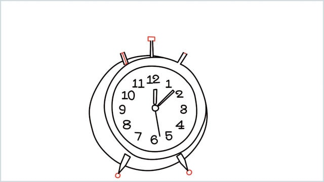 how to draw a clock step (10)