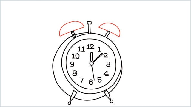 how to draw a clock step (11)