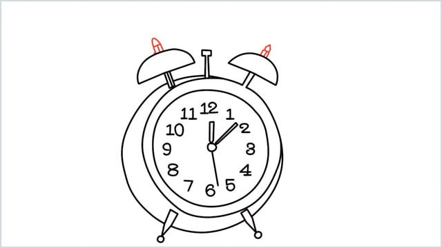 how to draw a clock step (12)