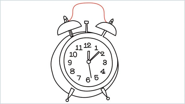 how to draw a clock step (13)