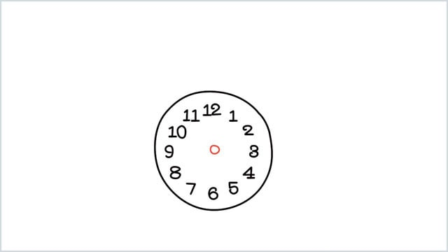 how to draw a clock step (3)