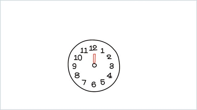how to draw a clock step (4)