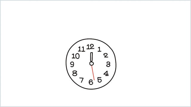 how to draw a clock step (5)