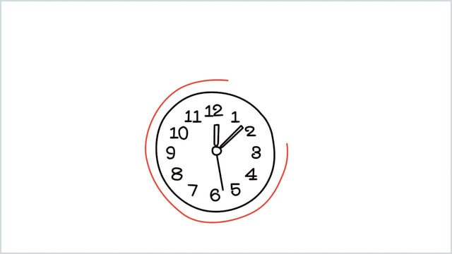 how to draw a clock step (7)