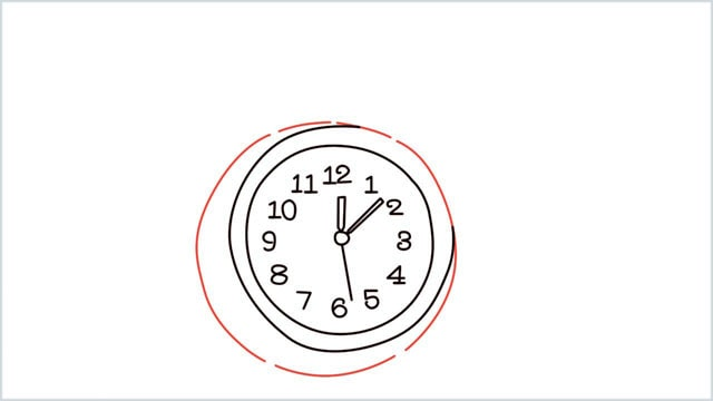 how to draw a clock step (8)