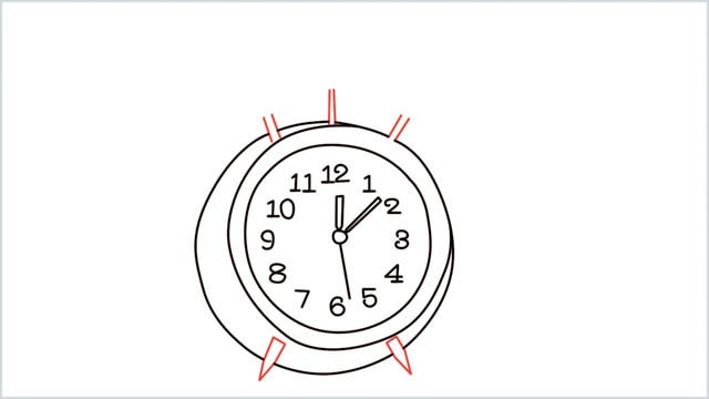 how to draw a clock step (9)