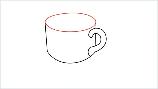 how to draw a coffee cup step (5)