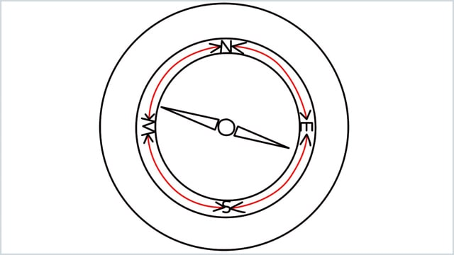 how to draw a compass step (7)