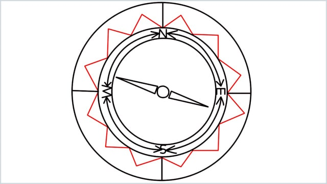 how to draw a compass step (9)