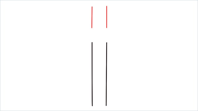 how to draw a cross step (2)