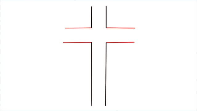 how to draw a cross step (3)