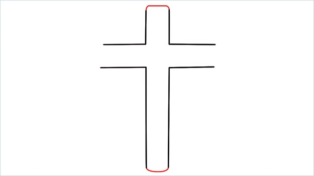 how to draw a cross step (4)